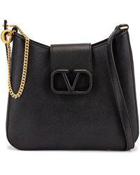 Valentino Small Vsling Hobo Bag - Black