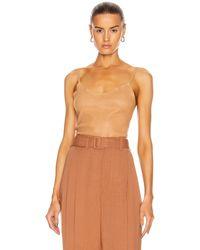 SPRWMN Stretch Leather Cami - Brown
