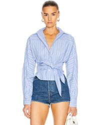 Marissa Webb Emmerson Striped Shirt - Blue