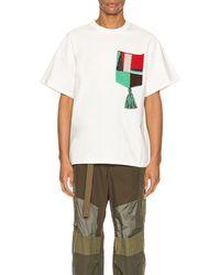 Jil Sander Embroidered Pocket Cotton-jersey T-shirt - Natural