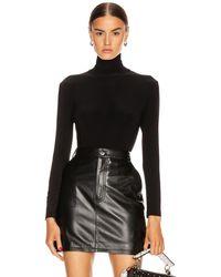 Norma Kamali Long Sleeve Turtleneck Bodysuit - Black