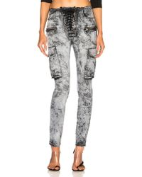 Unravel - Cloudy Cargo Lace Up Skinny - Lyst