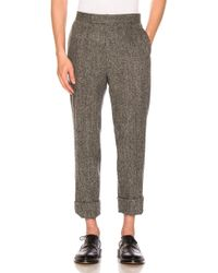 Thom Browne - Classic Backstrap Herringbone Tweed Trousers - Lyst