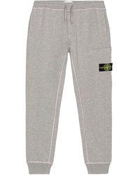 Stone Island Fleece Cargo Pants - Grau