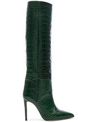 Paris Texas Hohe Stiefel mit Krokoprägung - Grün
