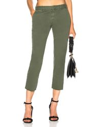 Nili Lotan - Cropped French Military Trousers In Avocado - Lyst