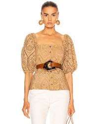 Ganni Broderie Anglaise Top - Multicolor