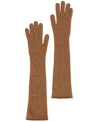 Alberta Ferretti Wool Gloves - Brown