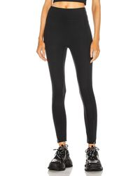 A.L.C. X Bandier High Waisted Legging With Front Zip - Black