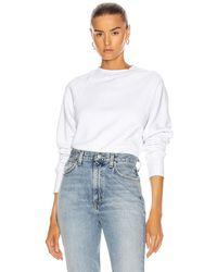 Marissa Webb So Uptight Raglan Sweatshirt - White