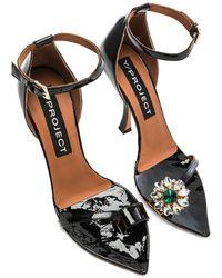 Y. Project - High Heel Crystal Sandal - Lyst