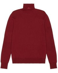 Amiri Fitted Wool Turtleneck - Red