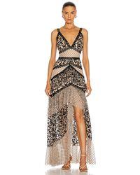 PATBO Burnout Velvet Maxi Dress - Black
