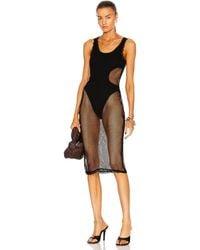 Dion Lee Net Layered Dress - Black