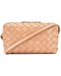 Bottega Veneta Leather Woven Crossbody Bag - Multicolour