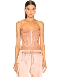 Jonathan Simkhai - For Fwrd Mixed Lace Bustier Bodysuit - Lyst