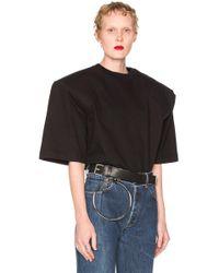 Vetements Football Shoulder Tee Shirt Gun Club - Black