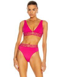 Versace Triangle Bikini Top - Multicolor