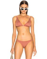 Fleur du Mal - Built Up Triangle Bikini Top - Lyst