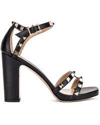 Valentino Rockstud Ankle Strap Sandals - Schwarz