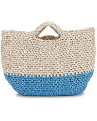 Mark Cross Christy Crochet Tote - Blau