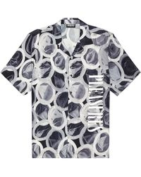 Pleasures Protection Button Down Shirt - Gray
