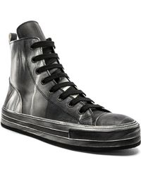 Ann Demeulemeester - Leather Hi-top Sneakers - Lyst