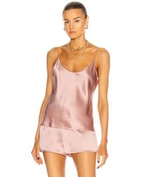 La Perla Seidentop mit gekreuzten Trägern - Pink