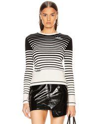 Valentino Long Sleeve Striped Sweater - Schwarz