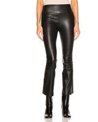 SPRWMN High Waist Crop Flare Legging - Black