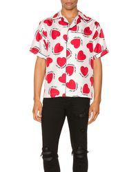 Amiri Hemd mit Herz-Print - Weiß