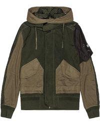 NEMEN Military Bomber Jacket - Green