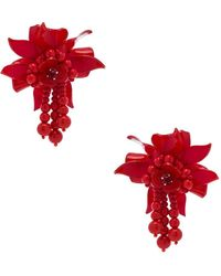 Oscar de la Renta - Carmine Flower Field Earrings - Lyst