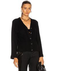 Enza Costa Jumper Knit Cardigan - Black