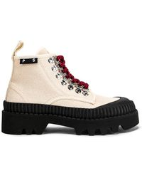 Proenza Schouler Canvas Combat Boots - Black