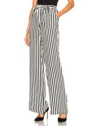 FRAME - Stripe Easy Pant In Noir Multi - Lyst