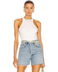 Agolde Rianne Bodysuit - Weiß