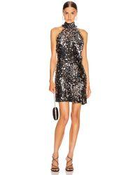 Galvan London Gemma Sequin Mini Dress - Metallic