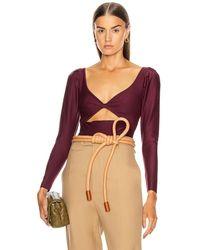Johanna Ortiz Invasive Long Sleeve Bodysuit - Purple