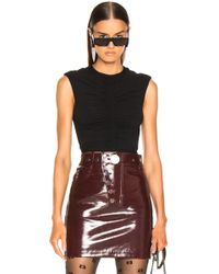 f35f0c92c7ed Recently sold out. T By Alexander Wang - Crepe Cropped Top - Lyst