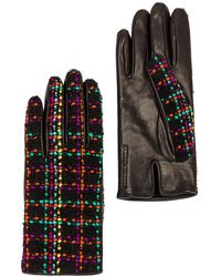 Saint Laurent Checked Gloves - Schwarz