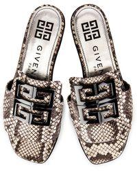 Givenchy 4G Flat Mule Sandals - Grau