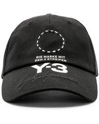 Y-3 - Embroidered Logo-print Stretch-cotton Baseball Cap - Lyst
