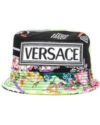 Versace Logo Print Bucket Hat - Grün