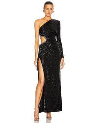 Dundas Sequin Cutout Gown - Black