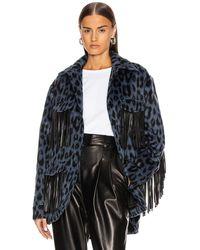 ANDAMANE Evita Fringe Jacket - Blue