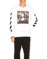Off-White c/o Virgil Abloh - Mona Lisa Hoodie In White - Lyst