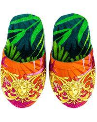 Versace Jungle Slippers - Green