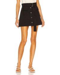 Matthew Bruch Cargo Twill Mini Skirt - Black