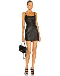 Alexander Wang Leather Cami Mini Dress - Schwarz